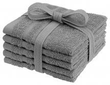 Waschtuch Basic Frottee - Grau 25x25 cm 5er-Pack