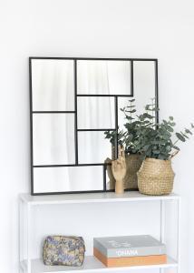 KAILA Spiegel Asymetric - Schwarz 70x70 cm