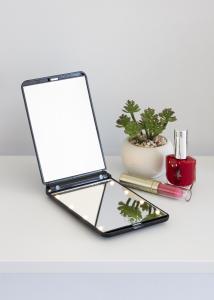 KAILA Kosmetikspiegel Fold III Schwarz - 12x8 cm