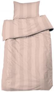 Bettwäsche-Set Big Stripe Satin 2-teilig - Peach