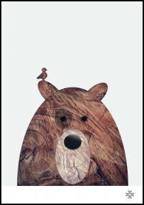 Wood bear Poster