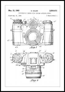 Patentzeichnung - Kamera I Poster