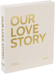 KAILA OUR LOVE STORY Creme - Coffee Table Photo Album (60 Schwarze Seiten)