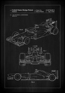 Patent Print - Formula 1 Racing Car - Black Poster