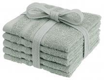 Waschtuch Basic Frottee - Grün 25x25 cm 5er-Pack