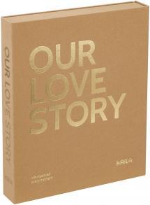 KAILA OUR LOVE STORY Manilla - Coffee Table Photo Album (60 Schwarze Seiten)