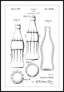 Patentzeichnung - Coca-Cola-Flasche Poster