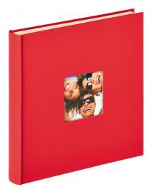Fun selbstklebend Rot - 33x34 cm (50 weiße Seiten / 25 Blatt)