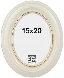 Eiri Mozart Oval Weiß 15x20 cm