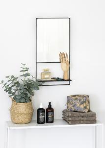 KAILA Spiegel mit Ablage - Schwarz 31x60 cm