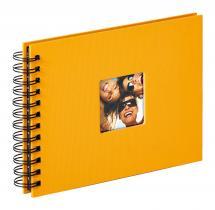 Fun Spiralalbum Gelb - 23x17 cm (40 schwarze Seiten / 20 Blatt)