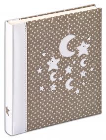 Stars & Moon Album - 28x30,5 cm (50 weiße Seiten / 25 Blatt)