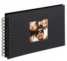 Fun Spiralalbum Schwarz - 23x17 cm (40 schwarze Seiten / 20 Blatt)