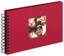 Fun Spiralalbum Rot - 23x17 cm (40 schwarze Seiten / 20 Blatt)