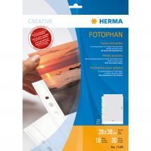 Herma Fototaschen 20x30 cm vertikal - 10er-Pack Weiß