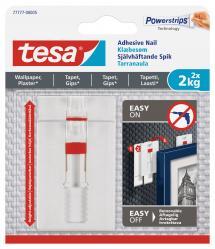 Tesa - Verstellbarer selbstklebender Nagel für alle Wandarten (max. 2x2kg)