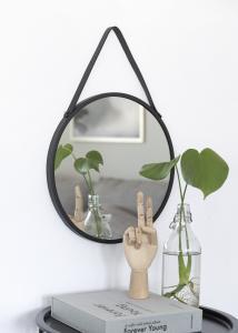 Spiegel Trapani Schwarz 38 cm Ø
