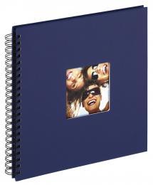 Fun Spiralalbum Blau - 30x30 cm (50 schwarze Seiten / 25 Blatt)