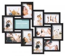 Timeless Collage-Rahmen Schwarz - 12 Bilder