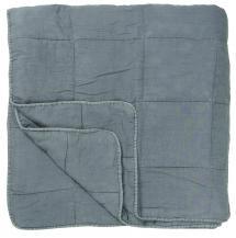Bettüberwurf Vintage Doppelbett - Hellblau 240x240 cm