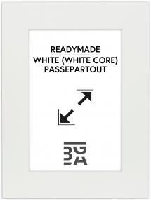 Passepartout Weiß (weißer Kern) 40x50 cm (29x39)