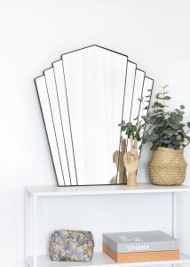 KAILA Spiegel Fan - Schwarz 63x70 cm
