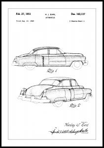 Patentzeichnung - Cadillac I Poster