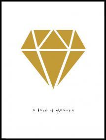 Diamant - Gold Poster