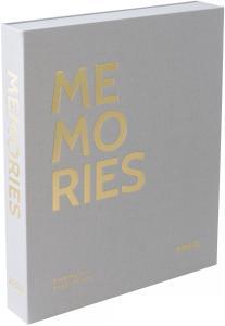 KAILA MEMORIES Grey - Coffee Table Photo Album (60 Schwarze Seiten)
