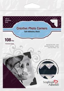 3L Creative Photo Corners Schwarz - 108 St.