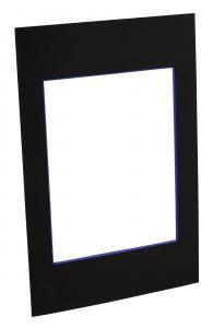 Passepartout Schwarz (lilafarbener Kern) - Maßgefertigt