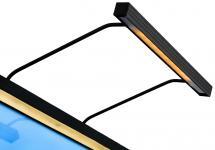 BLP 117 für Rahmenbreite 45-70 cm Bildbeleuchtung - Schwarz
