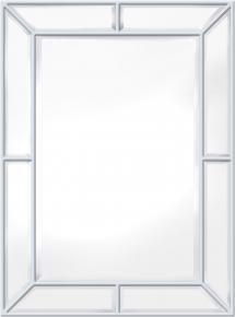 Spiegel Pimlico Glass Panelled Wood Misty Weiß 79x112 cm