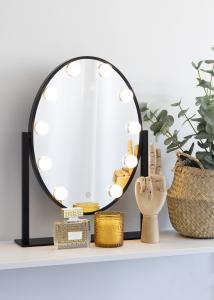 KAILA Kosmetikspiegel IV Schwarz - 34x47 cm