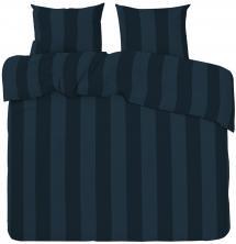 Bettwäsche-Set Big Stripe Satin Kingsize 3-teilig - Marine