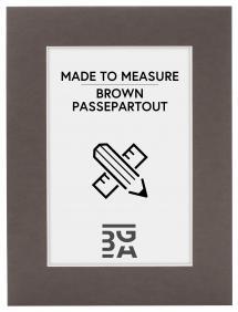 Passepartout Braun (Weiß kärna) - Maßgefertigt