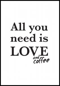 Love and coffee Poster