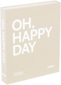 KAILA OH HAPPY DAY Grey - Coffee Table Photo Album (60 Schwarze Seiten)