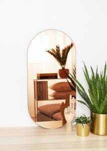 KAILA Spiegel Oval Rose Gold 35x70 cm