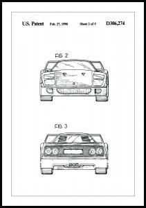 Patentzeichnung - Ferrari F40 III Poster