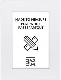Passepartout Reinweiß (weißer Kern) - Maßgefertigt