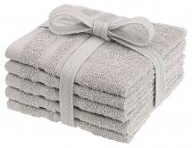 Waschtuch Basic Frottee - Sand 25x25 cm 5er-Pack