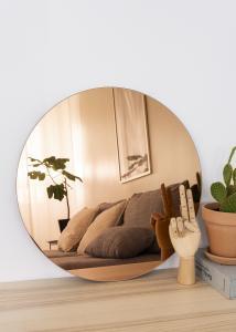 KAILA Runder Spiegel Rose Gold 50 cm Ø