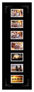 Passepartout Schwarz 30x91 cm - Collage 7 Bilder (9x14 cm)