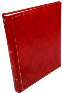 Henzo Basic Line Fotoalbum Rot - 30x36 cm (80 weiße Seiten / 40 Blatt)