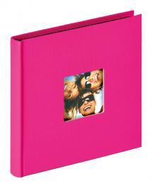 Fun Album Rosa - 18x18 cm (30 schwarze Seiten / 15 Blatt)