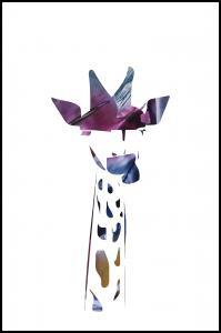 Giraffe night Poster