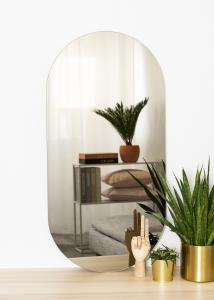 KAILA Spiegel Oval Dark Bronze 50x100 cm
