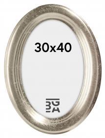 Molly Oval Silber 30x40 cm