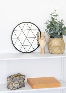 KAILA Runder Spiegel Triangles - Schwarz 35 cm Ø